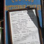 Signboard menu...
