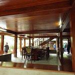 The ground floor of the stilt house
