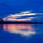 A sunset cruise on the Zambezi River