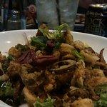 Spicy calmari salad.