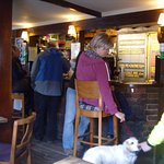 """Dogs are welcome in the cosy bar of the """"Sussex Brewery"""" pub beside the A259"""
