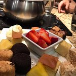 Fruit, Cakes, Cookies, and Marshmallows to dip in chocolate