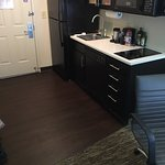 Renovated room - hardwood flooring.