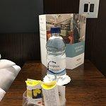 Water bottles (free re-fill) & ear plugs provided