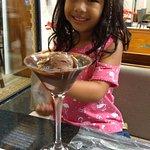 Atenção especial do chef dá casa com a nossa filha Olga cara de felicidade dela. Com o xamego qu