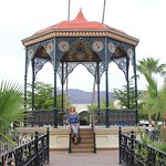 Gazebo in the town square of Alamos.