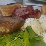 Gluten Free Bacon Eggs on Toast
