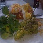 Egg Salmon and Avocado on Sour Dough