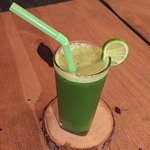 Fresh green juices