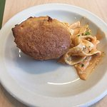Coconut muffin and fettucini