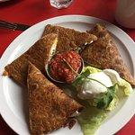 My quesadillas, very delish!