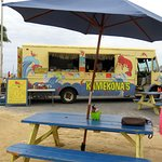 the Kamekona's shrimp truck in place of Gilligans Shrimp Truck for the day