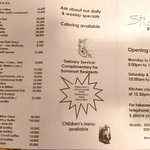 """Front page menu - found at Somerset """"hotel"""""""