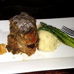 Veal, Angus Beef, Pork Meatloaf w/ Mash Potatoes & Asparagus