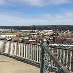 The shyline of Dubuque