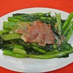 Stir fried kale with Chinese ham