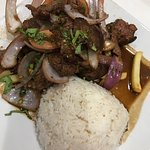 Delicious Peruvian Food, well enjoyed in the company of my great neighbors!.