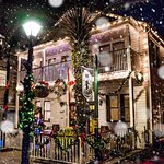 Nobody does a vintage Christmas like 44 Spanish Street Inn - Right down the snow flurries!