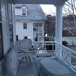 The porch in front of our room looking over at the main building.