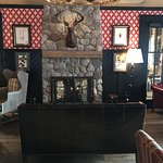 Fireplace area of the restaurant