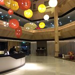Lobby is appealing, modern, colorful and vibrant