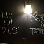 Kids Eat Free on Mon and Tues