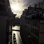 Sunset view of River Seine from Room