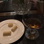 Post dinner cognac and chocolates