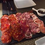 Mixed plate of meats