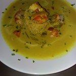 Curry con arroz basmati.