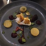 Salt baked beet root & whipped goats cheese