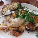 Confit Chicken with Figs, & Watercress salad
