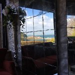 View from Copenhagen Bar as seen in reflection of mirror wall