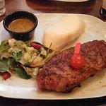 16oz sirloin steak, medium rare!