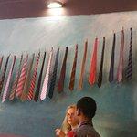 An artistic wall at R Caffe