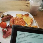 Breakfast and a good book, what could be better!