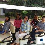 golf cart to tour the area