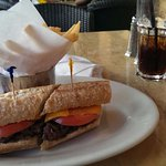 Sandwich w/ french fries, delicious!!!