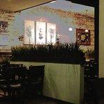 Artwork and restaurant interior