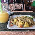 Pineapple Fried Rice and Mango shake