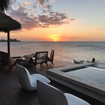 Another beautiful Jamaican sunset from the deck of our villa.