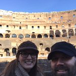 Suzi and I at the Colosseum in December. Thanks again, Simone, for the great tour!!