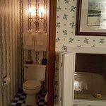 "Thoreau Falls room, bathroom with ""window""."