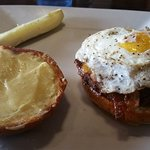The Townie Burger. Watch out for the egg squirting out!