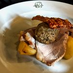 Roast loin of local pork (mixture of vegetables was on a separate plate)