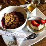 Gorgeous blackberry and apple crumble