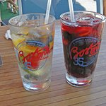 Great white and red Sangria's! Try one