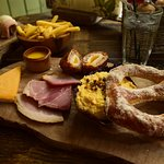 Deli board, looking amazing, a pity the food is cold