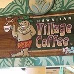 outdoor sign of Hawaiian Village Coffee, Kahana Gateway Shopping Center