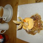 The Rhubarb Crumble with Ice Cream isn't bad either, truth to tell ......